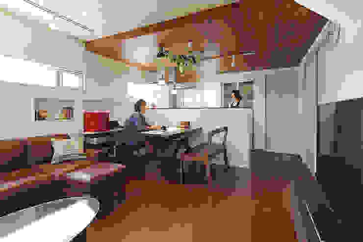 中野の家 和風デザインの ダイニング の 有限会社タクト設計事務所 和風