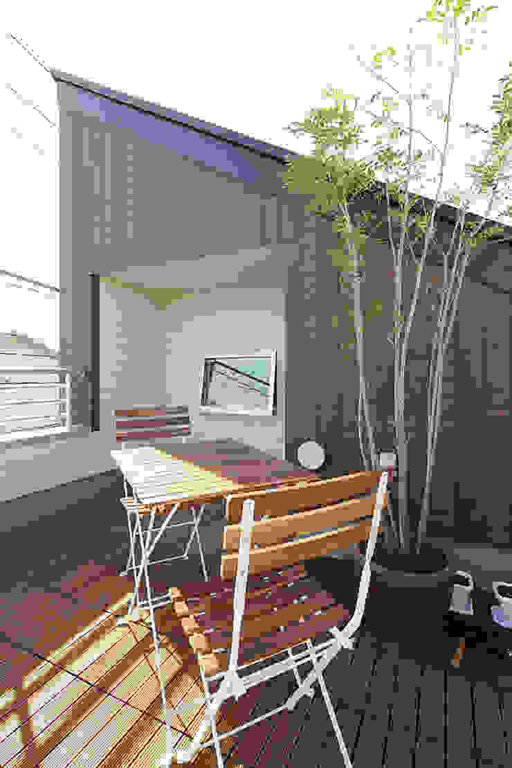 中野の家 和風デザインの テラス の 有限会社タクト設計事務所 和風