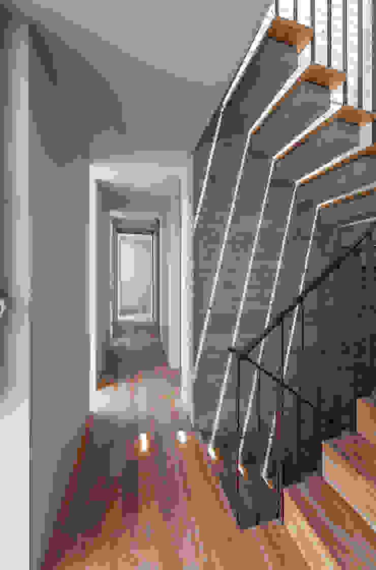 庭とともに時を刻む家 Garden on Garden モダンスタイルの 玄関&廊下&階段 の A-SEED ASSOCIATES モダン