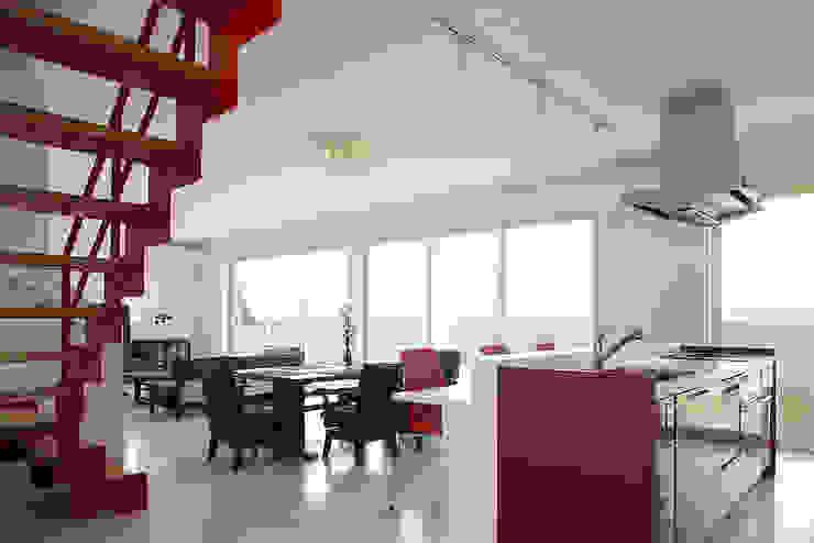 有限会社タクト設計事務所:  tarz Yemek Odası, Modern