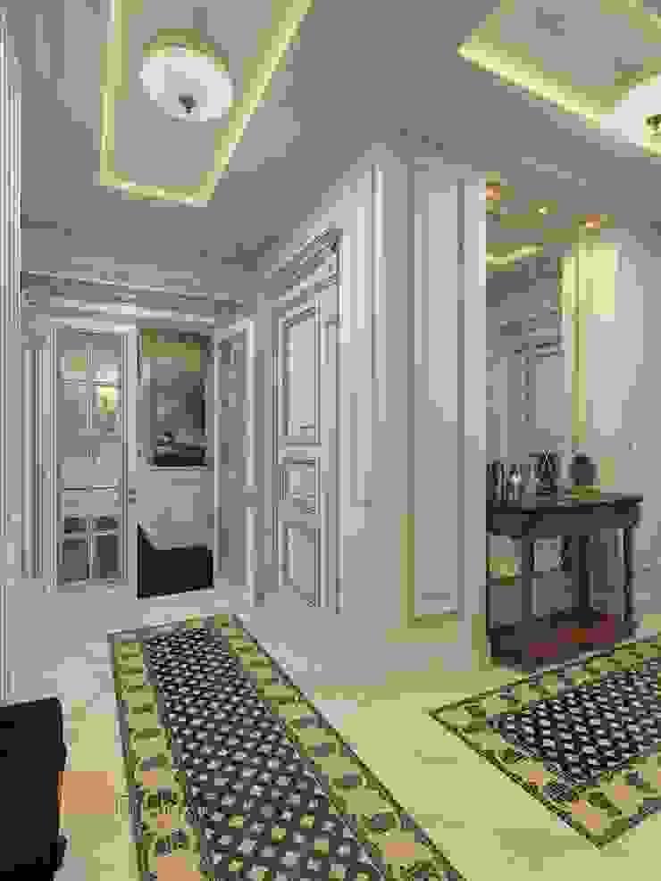 Студия Павла Полынова Classic style corridor, hallway and stairs