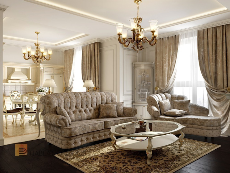Classic style living room by Студия Павла Полынова Classic