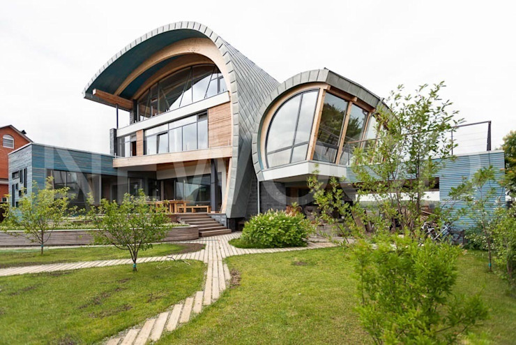 Ramen door NEWOOD - Современные деревянные дома, Eclectisch