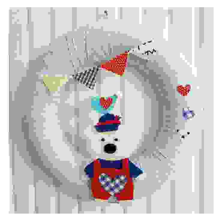 Sesiber – Cute Sailor Bear, Bird and Banner, Polka Dots Baby Blues For Baby Boy Door Wreath: modern tarz , Modern