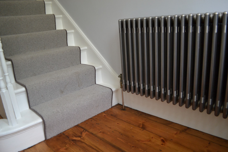Raw mental two column radiator Modern corridor, hallway & stairs by Mr Central Heating Modern