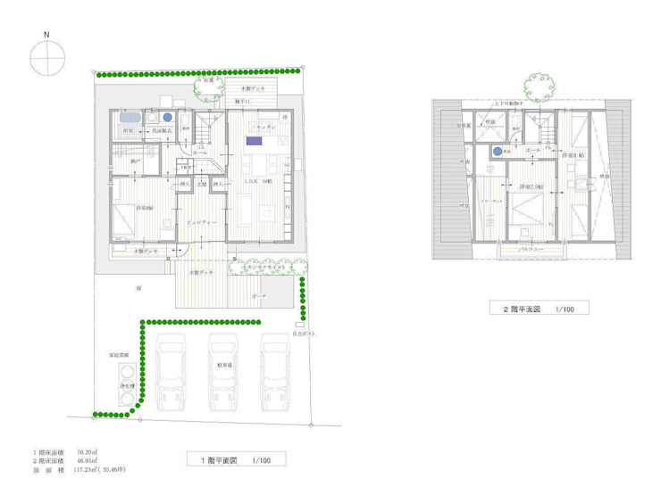 石の住宅 平面プラン: 中飯賀業建築研究所が手掛けた折衷的なです。,オリジナル