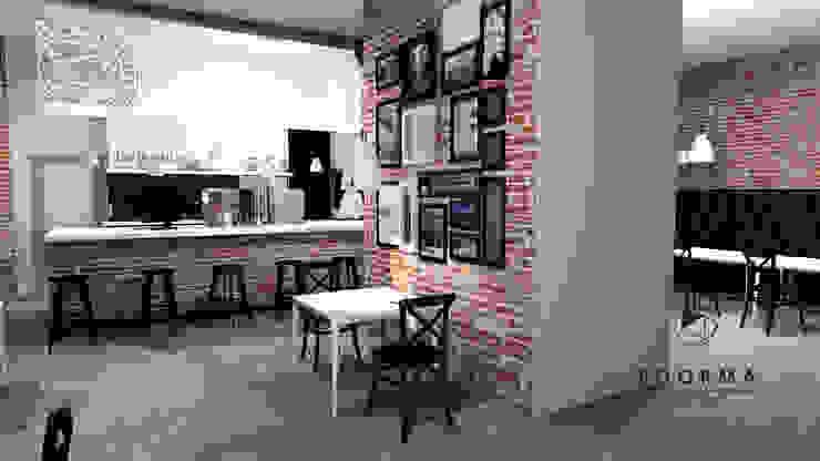 Kawiarnia Herz w Oświęcimiu. od FOORMA Pracownia Architektury Wnętrz Industrialny