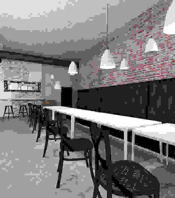 Kawiarnia Herz w Oświęcimiu. od FOORMA Pracownia Architektury Wnętrz Rustykalny