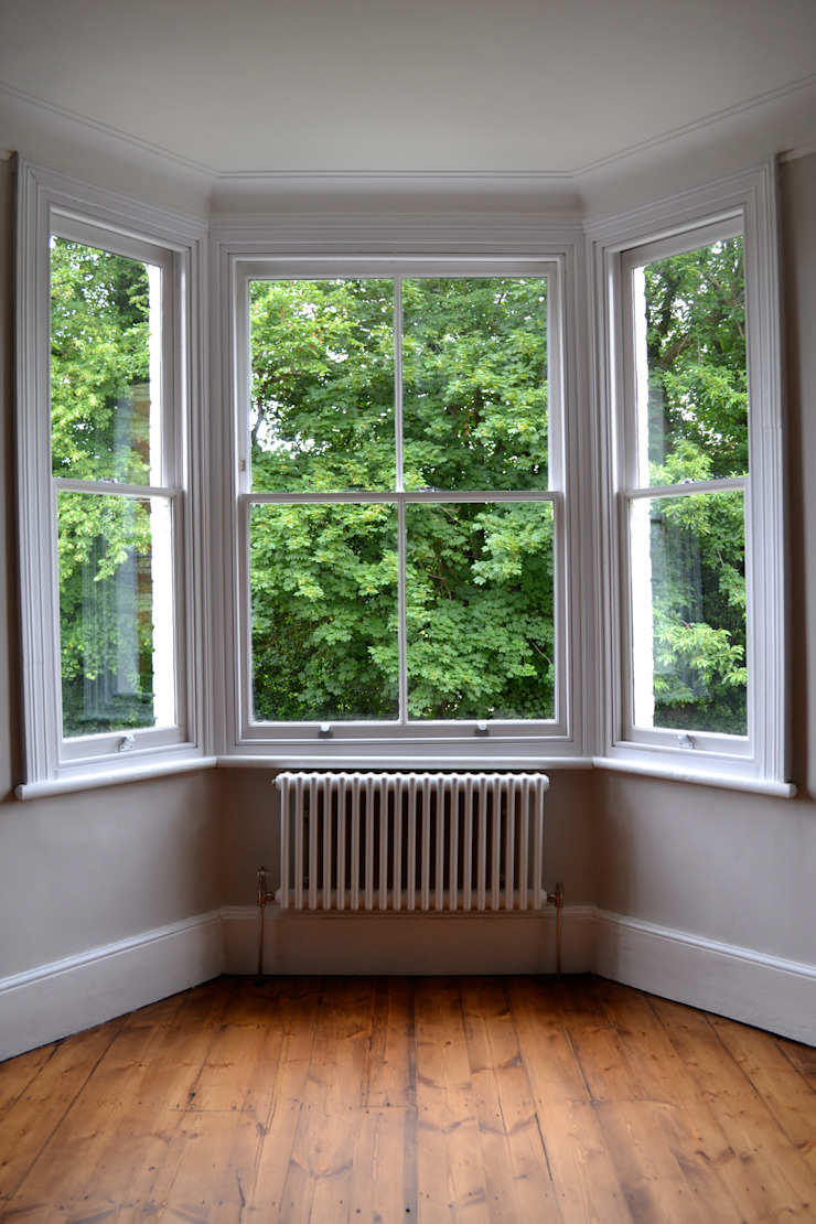 White three column radiator Modern Living Room by Mr Central Heating Modern
