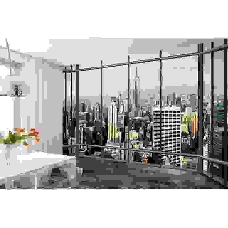1Wall Studio Window View of the New York City Skyline Wall Mural de Home Flair Decor Moderno