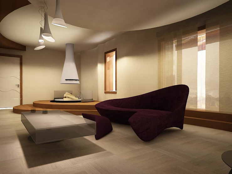 villa Minimalist Oturma Odası teknogrup design Minimalist
