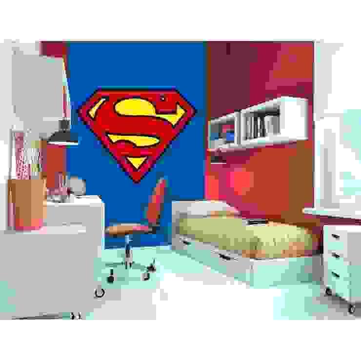 1Wall Superman Logo Wall Deco Wallpaper Mural de Home Flair Decor Clásico