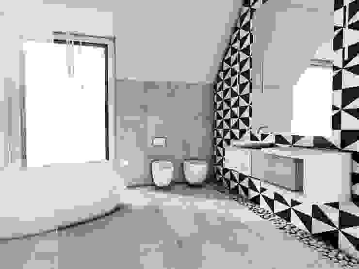 Łazienka, dom jednorodzinny Szałsza Skandynawska łazienka od FOORMA Pracownia Architektury Wnętrz Skandynawski