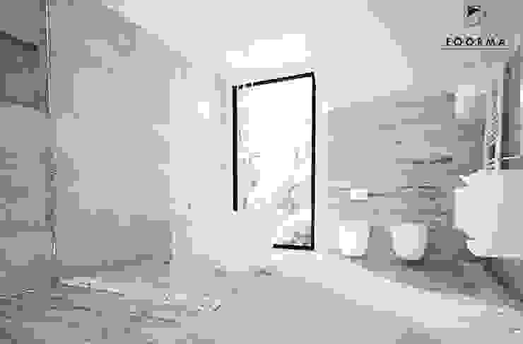 Łazienka, dom jednorodzinny Szałsza Nowoczesna łazienka od FOORMA Pracownia Architektury Wnętrz Nowoczesny