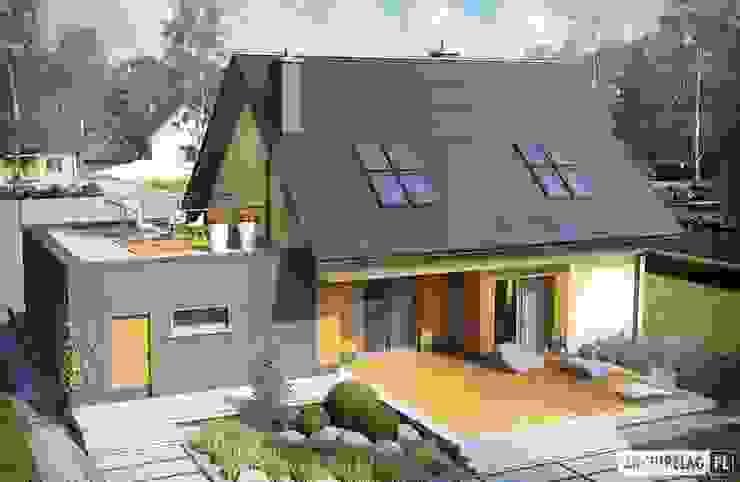 Projekt domu Marcin II G2 Nowoczesny garaż od Pracownia Projektowa ARCHIPELAG Nowoczesny