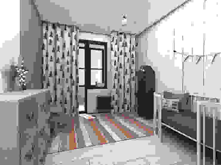 Квартира в стиле лофт: Детские комнаты в . Автор – ИНТЕРЬЕР-ПРОЕКТ.РУ,