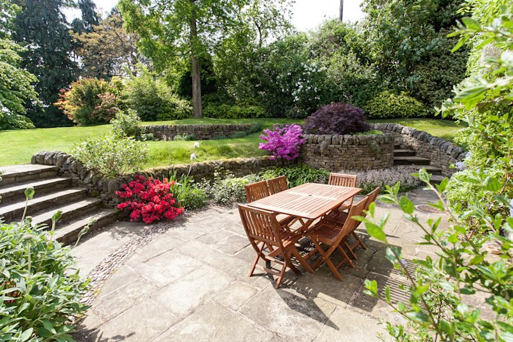 Rear Garden Rustic style garden by Barnes Walker Ltd Rustic