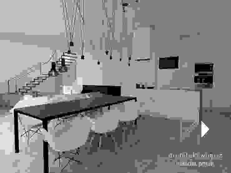 Kamienica Gliwice Nowoczesna kuchnia od Architekt wnętrz Klaudia Pniak Nowoczesny