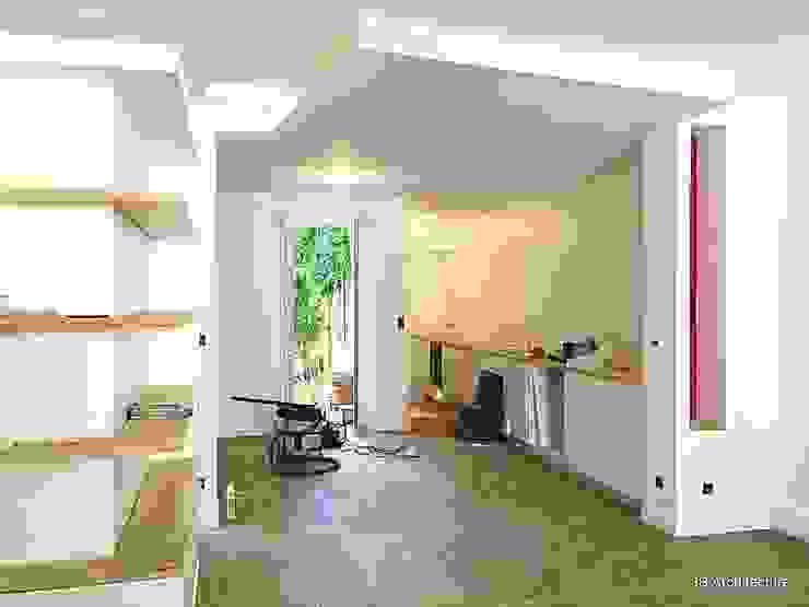 Chantier - Installation de la cuisine / Finitions de peinture: la réception en approche Salle à manger moderne par 3B Architecture Moderne