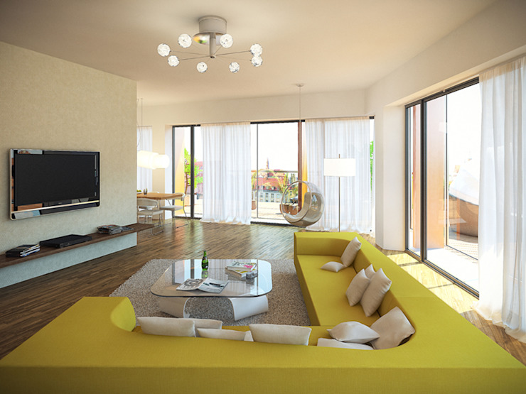 KODO projekty i realizacje wnętrz Salones de estilo moderno