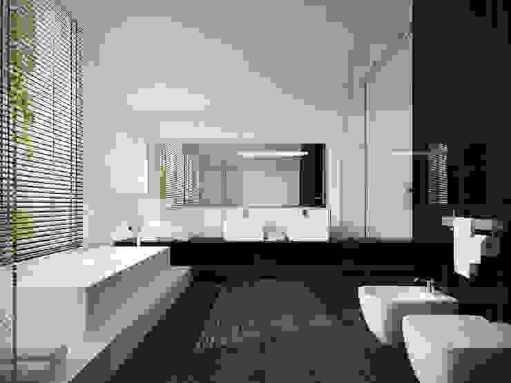 Łazienka na poddaszu Nowoczesna łazienka od KODO projekty i realizacje wnętrz Nowoczesny