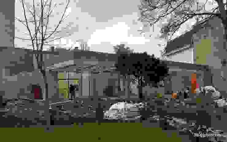 Chantier - La volumétrie finale révélée dans son site. par 3B Architecture Moderne