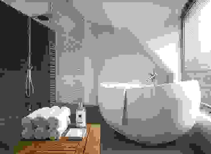 Salon kąpielowy Nowoczesna łazienka od KODO projekty i realizacje wnętrz Nowoczesny