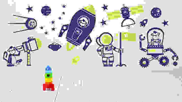 KOSMOS, RAKIETA naklejki ścienne dla dzieci: styl , w kategorii  zaprojektowany przez Pracownia Golden Sheep,Nowoczesny