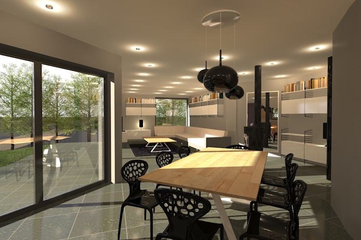 AMENAGEMENT INTERIEUR #009 Salle à manger moderne par HOME LAB' Moderne