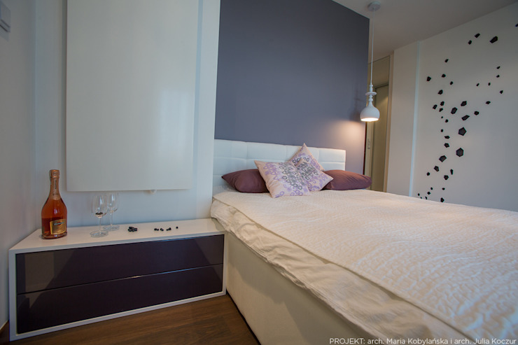 Realizacja Nowoczesna sypialnia od LEMUR Architekci Nowoczesny