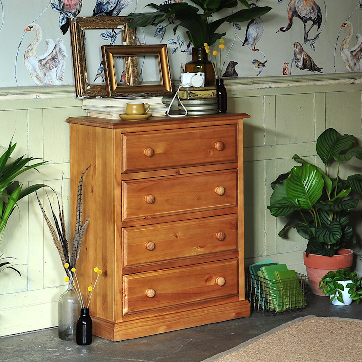 Langley Pine 4 Drawer Chest by The Cotswold Company Кантрi