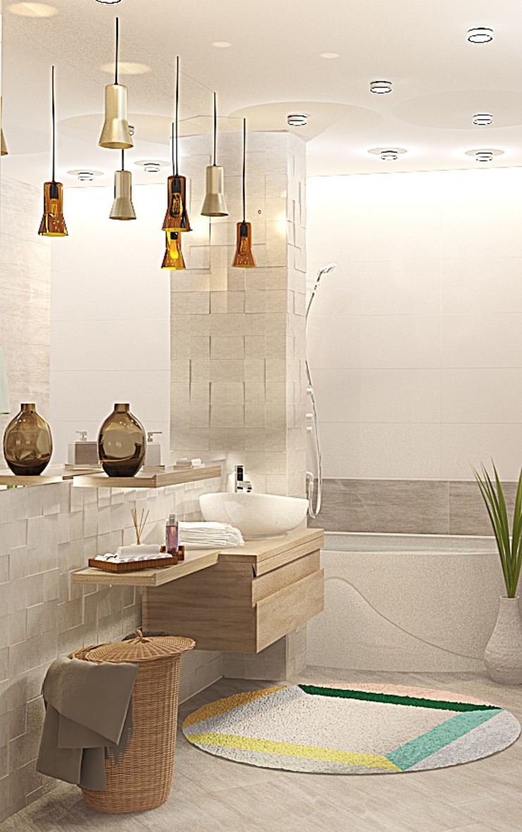 Ванная комната Ванная комната в стиле модерн от Мозжерина Марина Модерн