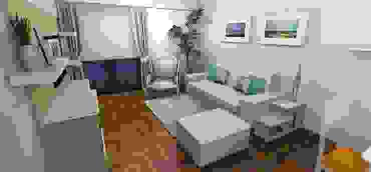 Render 3D - Sector 1 Muebles del angel Livings de estilo moderno