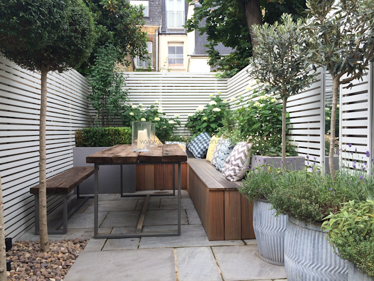 Slim & Subtle Rear Garden homify Сад
