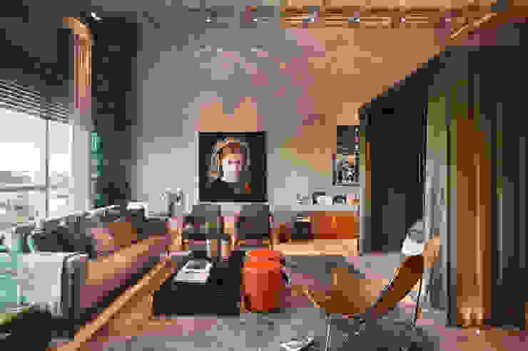 LOFT 212 Salas de estar modernas por Yamagata Arquitetura Moderno