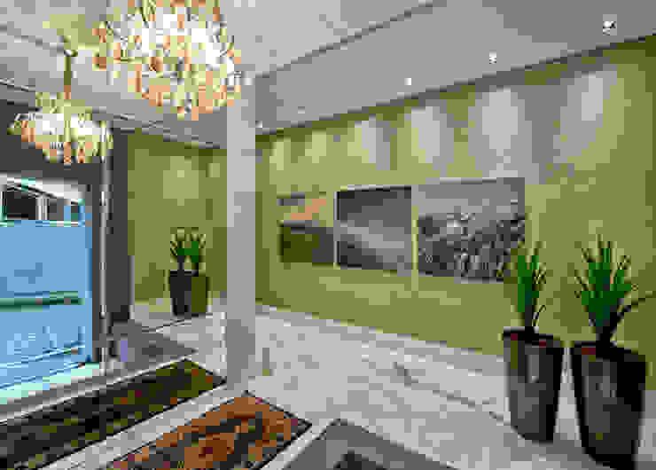 Modern corridor, hallway & stairs by Espaço do Traço arquitetura Modern