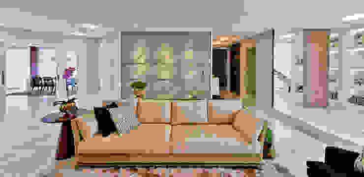 Living room by Espaço do Traço arquitetura