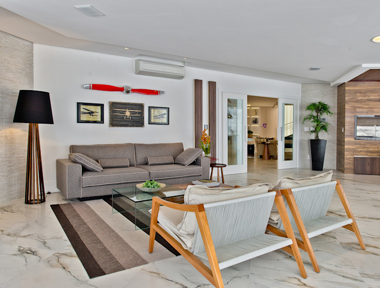 Moderne Wohnzimmer von Espaço do Traço arquitetura Modern