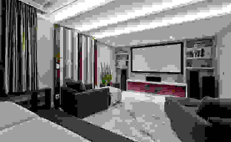 Salas multimedia modernas de Espaço do Traço arquitetura Moderno