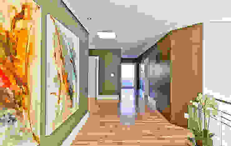 Pasillos, vestíbulos y escaleras modernos de Espaço do Traço arquitetura Moderno