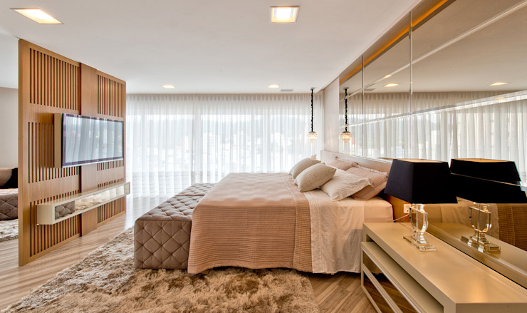 Phòng ngủ theo Espaço do Traço arquitetura,