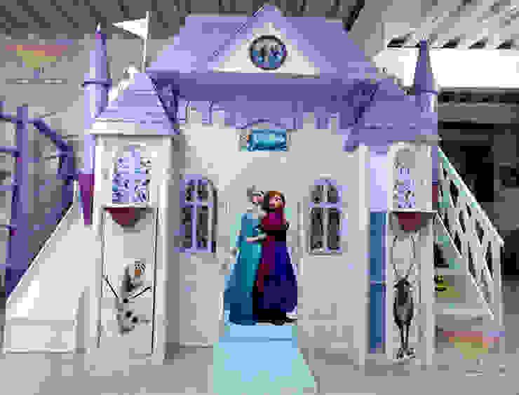Espectacular castillo de Frozen de camas y literas infantiles kids world Clásico