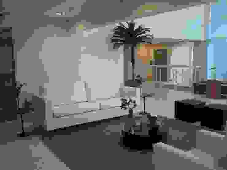 Implantação e Produção - Condomínio Corporativo Corredores, halls e escadas modernos por E F DESIGN.INTERIORES.PAISAGISMO Moderno