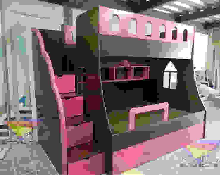 Litera juvenil chocolate con fresa de camas y literas infantiles kids world Moderno