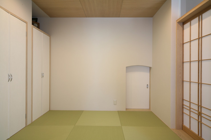 和室 モダンデザインの 多目的室 の MA設計室 モダン