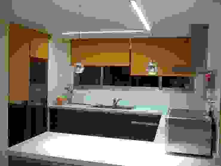 Mda decoración Modern kitchen Textile Orange