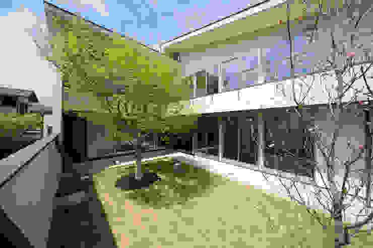 眺めのいい窓 中庭 モダンな庭 の アーキシップス古前建築設計事務所 モダン