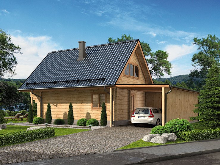 Rustic style house by THULE Blockhaus GmbH - Ihr Fertigbausatz für ein Holzhaus Rustic
