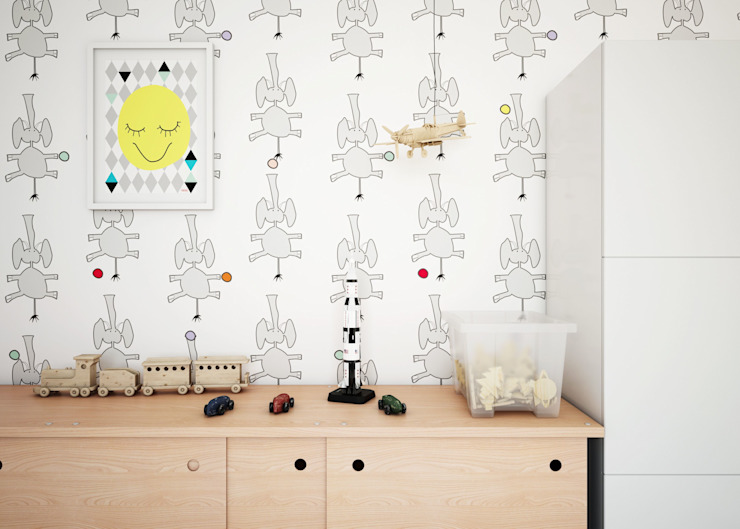 Wallpaper Sebastian's Elephants Humpty Dumpty Room Decoration Walls & flooringWallpaper