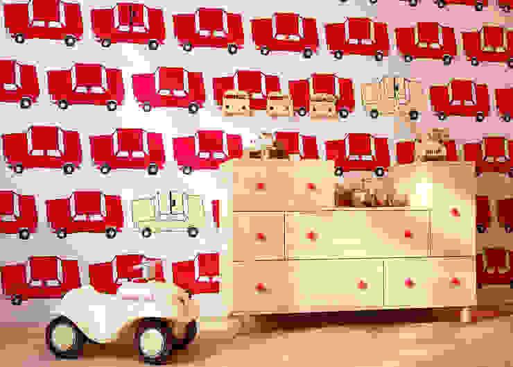 Tapeta dla dzieci Fiat 125 p od Humpty Dumpty Room Decoration Nowoczesny